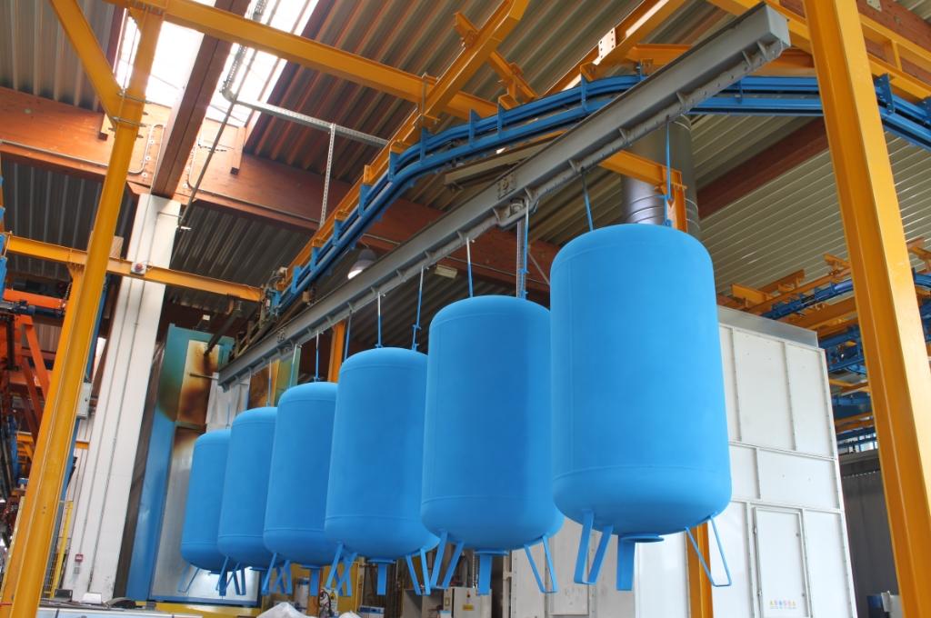impianto di verniciatura a polvere