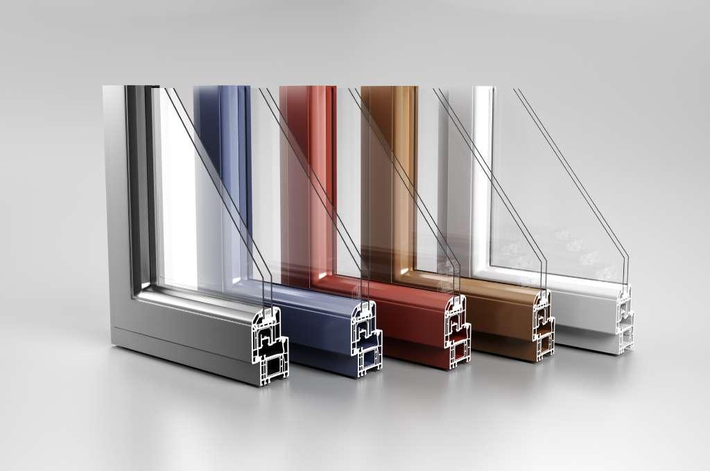 profili finestre alluminio di diversi colori
